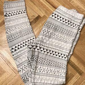 Free People Aztec Boho Leggings Size Medium